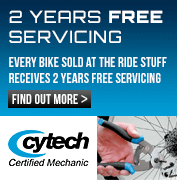 2 Years Free Servicing on all bikes sold at The Ride Stuff